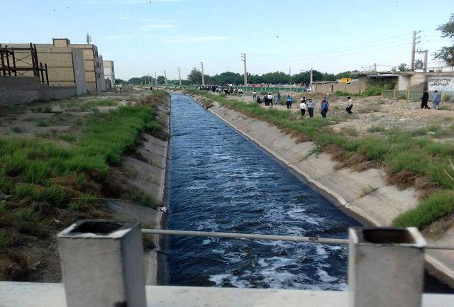 سقوط جوان ورامینی به داخل کانال آب ورامین
