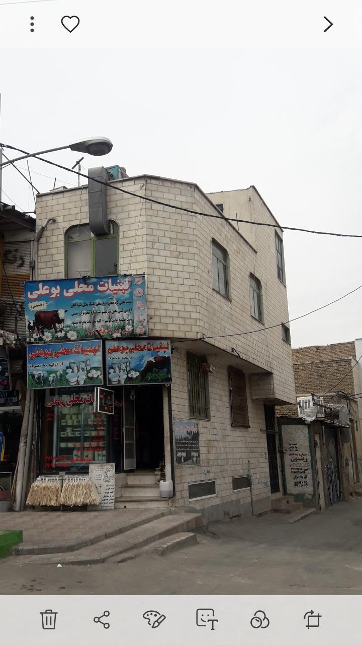 مغازه با زیرزمین و یک طبقه مسکونی
